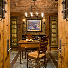 traditional wine cellar by On Site Management, Inc.