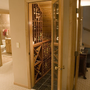 Great Wine Closet Using Under-Staircase Space