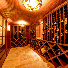 Traditional Wine Cellar by Derrick Architecture