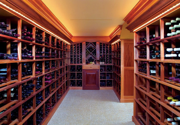 Traditional Wine Cellar by Design Build Consultants Inc.
