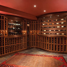 Traditional Wine Cellar by France Lavin Design