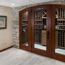 Contemporary Wine Cellar by Mosby Building Arts