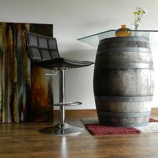 Modern Wine Cellar by nikkiMdesign