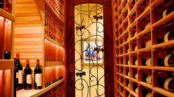 Hallway Cellar wine cellar
