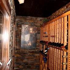Traditional Wine Cellar by Basement Finishing & Design Service, INC