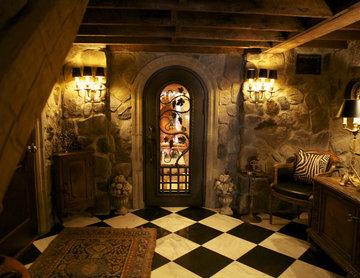 Hand Forged Wine Cellar Door
