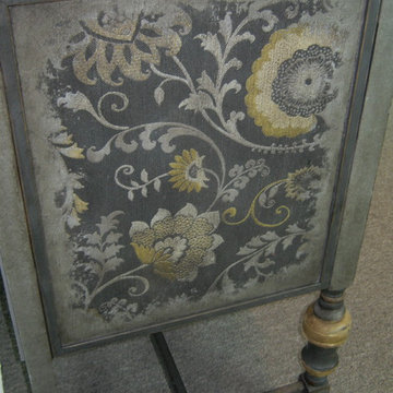 Hand Painted and Embellished Custom Wine Cabinet FOR SALE