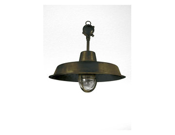 Hanging maritime brass light