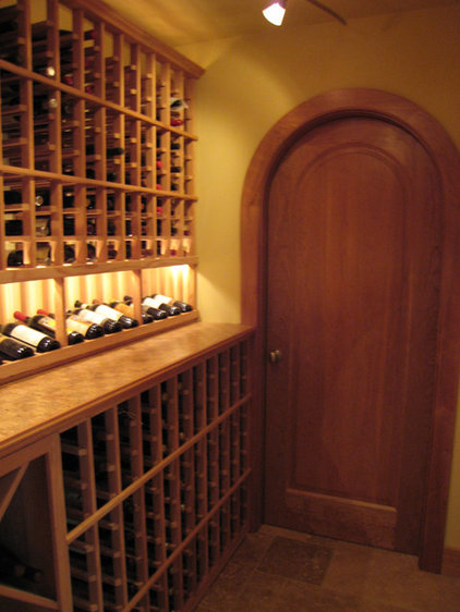 contemporary wine cellar by Harrell Remodeling