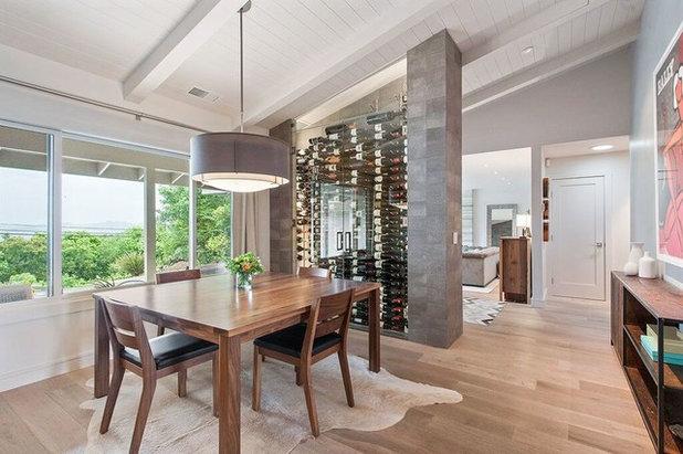 Contemporary Wine Cellar Healdsburg Hillside Ranch