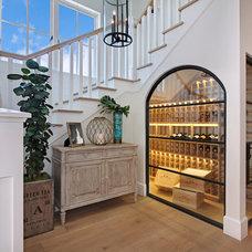 Beach Style Wine Cellar by Brandon Architects, Inc.
