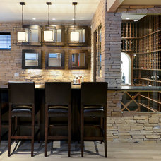 Contemporary Wine Cellar by Besch Design, Ltd.