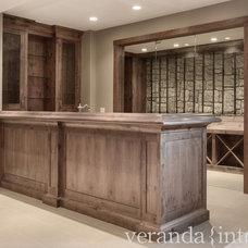Transitional Wine Cellar by Veranda Estate Homes & Interiors