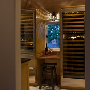 Hillside Home with a wine room