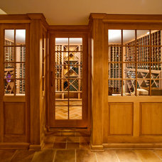 Traditional Wine Cellar by Worthington Custom Builder Inc.