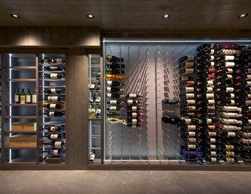 Hollywood Hills Custom Wine Cellar Industrial Contemporary Wine Room Modern