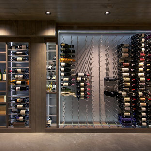 Hollywood Hills Custom Wine Cellar Industrial Contemporary Wine Room Modern