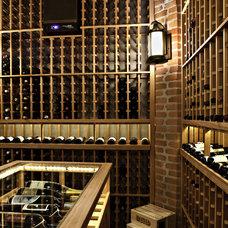 Traditional Wine Cellar by Tim Barber LTD Architecture & Interior Design