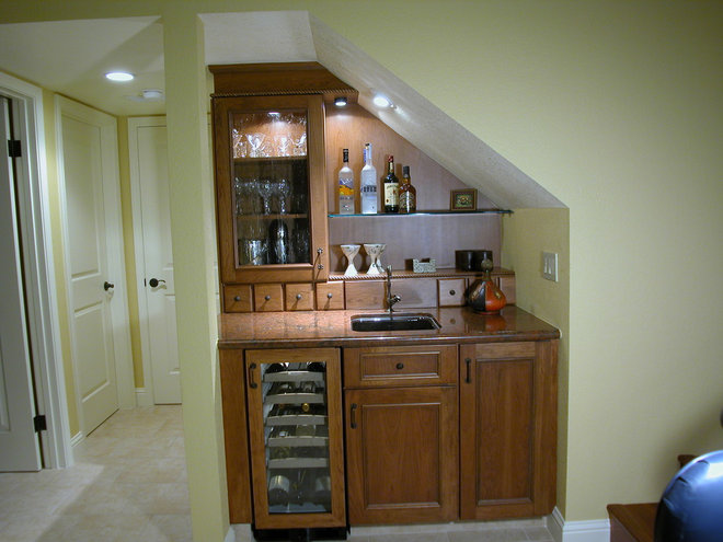 Traditional Wine Cellar by Julie Williams Design