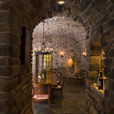 Traditional Wine Cellar by Kearney & O'Banion Inc.