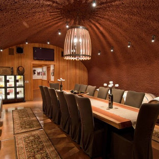 Inspiration for a contemporary wine cellar remodel in San Francisco