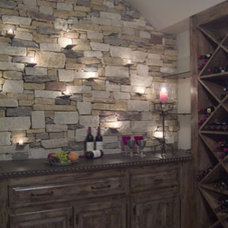 Mediterranean Wine Cellar by Panache development & construction Inc Custom home