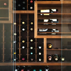 contemporary wine cellar by Michael Fullen Design Group