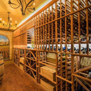 Photo of a modern wine cellar in Vancouver.