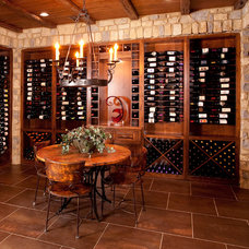 traditional wine cellar by W.V. de Stefano Homes, LLC