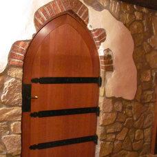 Mediterranean Wine Cellar by Inglenook Tile Design