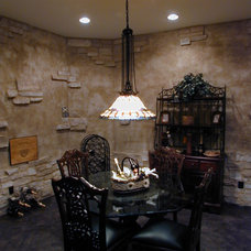 Traditional Wine Cellar by Fein Design