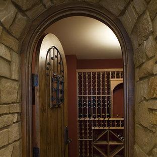 ミネアポリスの北欧スタイルのおしゃれなワインセラーの写真