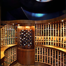 Contemporary Wine Cellar by Koerner Imaging