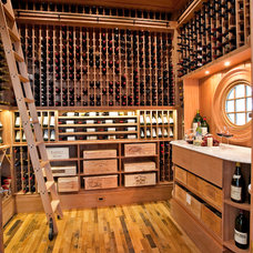 Contemporary Wine Cellar by Matthew Bolt Graphic Design
