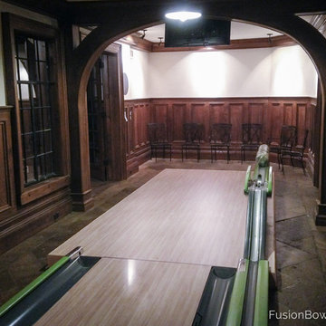 IPR Home Bowling Alley in Basement