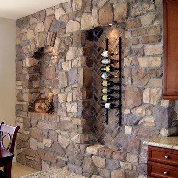 Italian Villa Stone Wine Wall - Coronado Stone Veneer