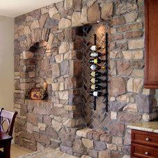 Mediterranean Wine Cellar by Coronado Stone Products