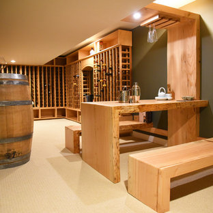 Japanese style Basement Winery and live edge table