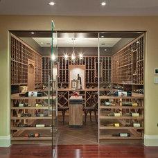Contemporary Wine Cellar by Jennifer Brouwer (Jennifer Brouwer Design Inc)