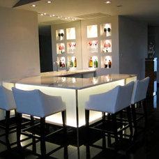 Contemporary Wine Cellar by EnvironmentalLights.com