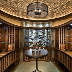 contemporary wine cellar by Charles Cunniffe Architects Aspen
