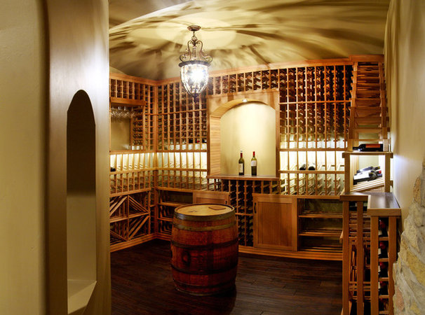 Traditional Wine Cellar by Sebring Services