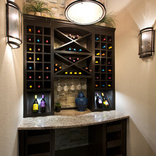 Traditional Wine Cellar by Mary DeWalt Design Group