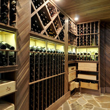 Traditional Wine Cellar by John Willis Homes