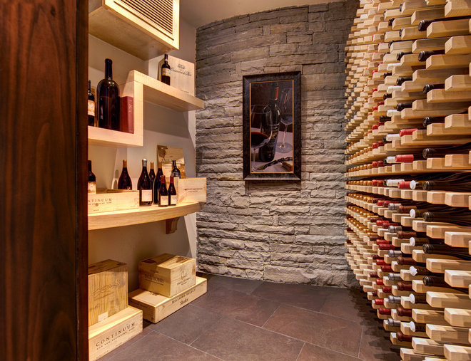 Modern Wine Cellar by Cablik Enterprises