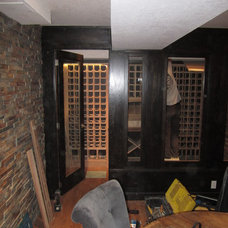 Traditional Wine Cellar by JWS Woodworking and Design Inc.