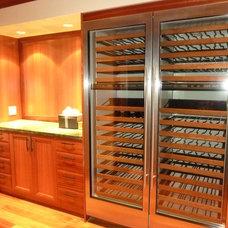 Traditional Wine Cellar by Zelko Woodworks LLC