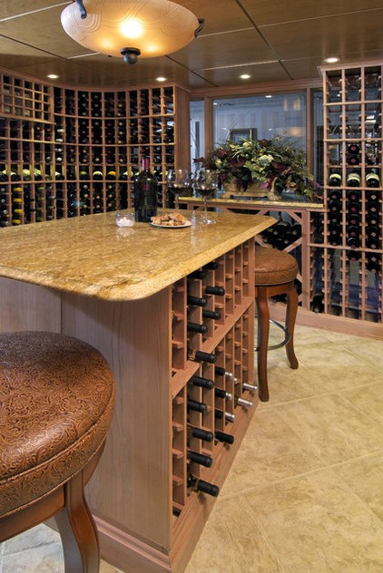 Modern Wine Cellar by KARLA TRINCANELLO-CID - INTERIOR DECISIONS, INC.