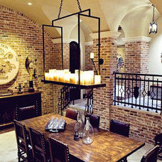 Traditional Wine Cellar by kelley hall