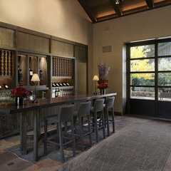 modern wine cellar by Schmitt + Company